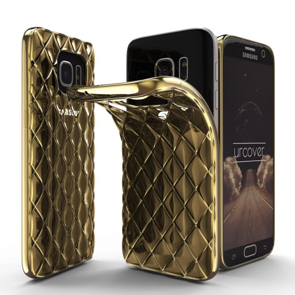 Urcover® Samsung Galaxy S7 Schutz Hülle Quilted Diamond Design Case Cover