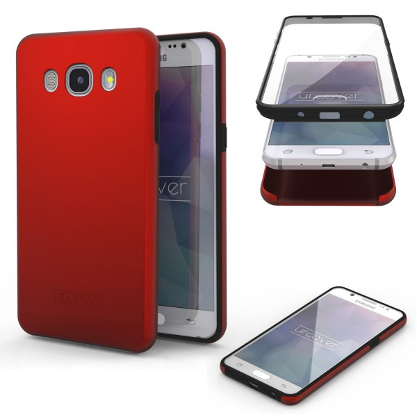 Samsung Galaxy J1 (2016) Touch Case 2018 Handy Schutz Hülle 360° Rundumschutz
