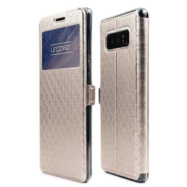 Urcover Samsung Galaxy Note 8 Sichtfenster Wallet Handy Schutz Hülle View Cover Flip Case Klapp Etui