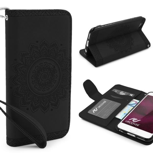 Apple iPhone 6 / 6s Schutz Hülle Wallet Klapp Schale Lotus Pattern Case Cover