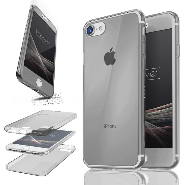 Apple iPhone 7 TPU Case 360 Grad Schutz Hülle Etui Cover Touch Case