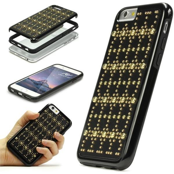 Urcover® Handy Schutz Hülle iPhone 6 / 6s Niete Back Case Cover Schale Zubehör