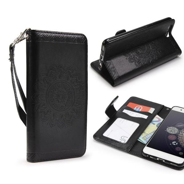 Huawei P10 Wallet Klapp Schutz Hülle Stand Flip Case Cover Etui Schale Tasche