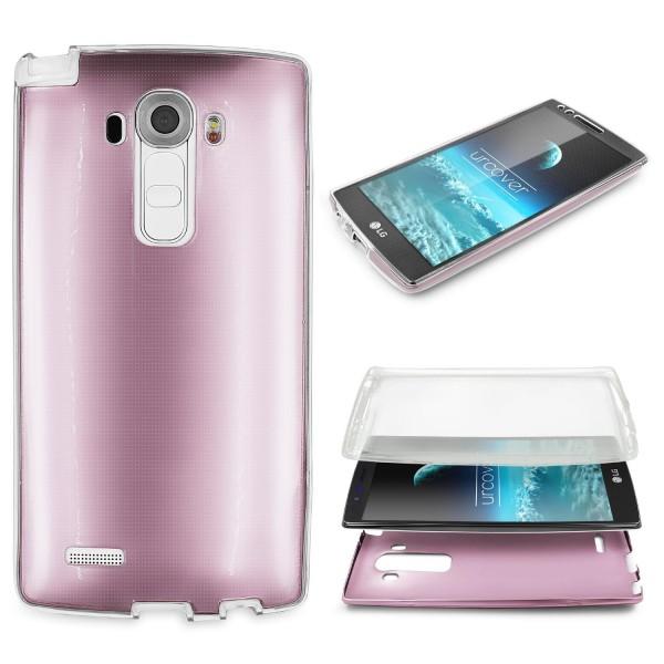 LG G4 Urcover 360 GRAD RUNDUM SCHUTZ Metalloptik TPU Slim Handy Hülle Cover Case