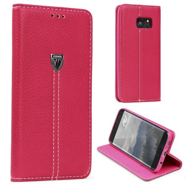 Samsung Galaxy S7 Edge Schutz Hülle Wallet Case Flip Cover Kartenfach Schale