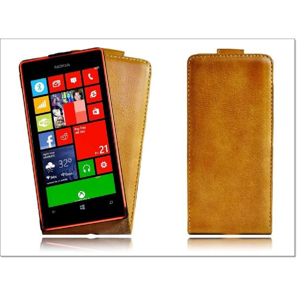 Akira Nokia Lumia 520 / 525 Handmade Echtleder Schutzhülle Ledertasche Case Flip