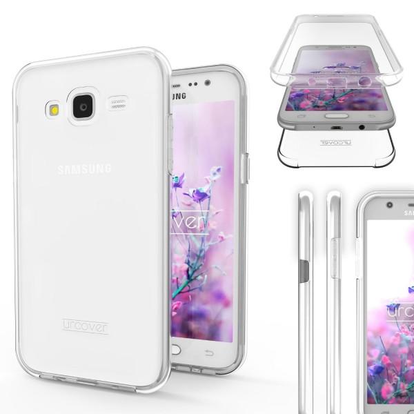 Samsung Galaxy J7 (2015) Touch Case 2018 Handy Schutz Hülle 360° Rundumschutz
