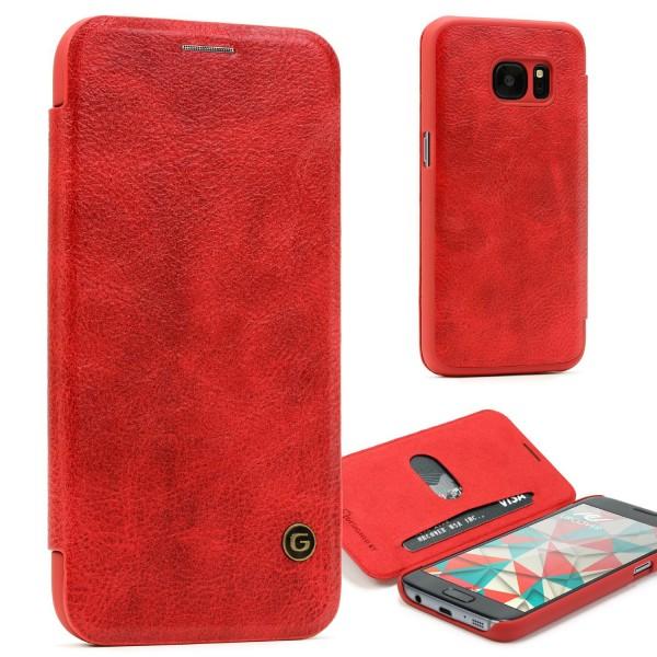 Urcover® Samsung Galaxy S7 Schutz Klapp Hülle Kartenfach Wallet Case Cover Flip