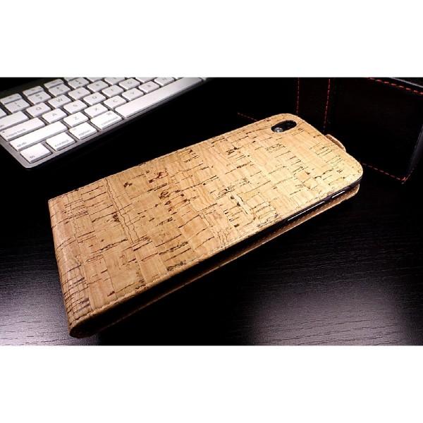 Urcover® HTC Desire 816 Kork Flip Schutz Hülle Case Cover Wallet Etui Schale