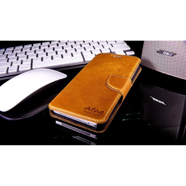Akira Sony Xperia Z1 Compact Handmade Echtleder Schutzhülle Flip Case Wallet