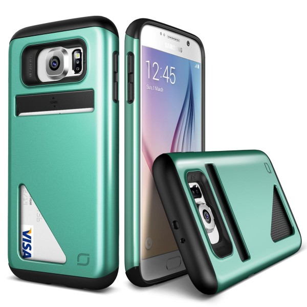 Urcover® Samsung Galaxy S6 Kartenfach Back Case Schutz Hülle Schale TPU Cover
