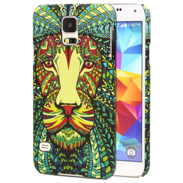 Urcover® Samsung Galaxy S5 Schutz Hülle Tier Muster Hard Back Case Cover Etui