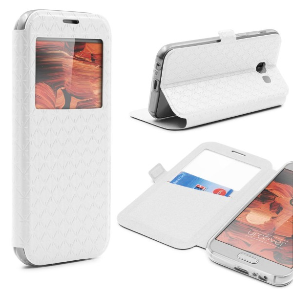 Samsung Galaxy A3 (2017) Sichtfenster Wallet Handy Schutz Hülle View Cover Case