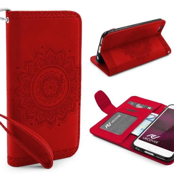 Apple iPhone 6 Plus / 6s Plus Schutz Hülle Wallet Klapp Schale Lotus Pattern