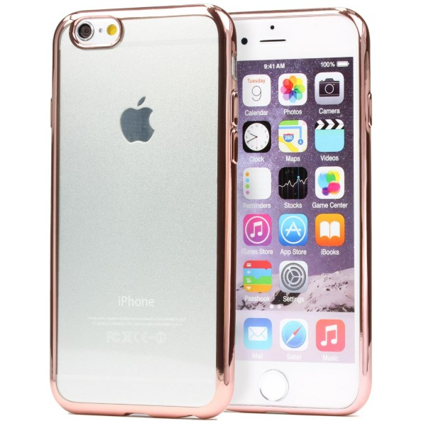 Apple iPhone 6 Plus / 6s Plus TPU Silikon Schutzhülle Spiegel Back Case Cover