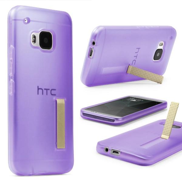 Urcover® HTC One M9 Schutz Hülle mit Standfunktion Soft Case Cover Tasche Etui