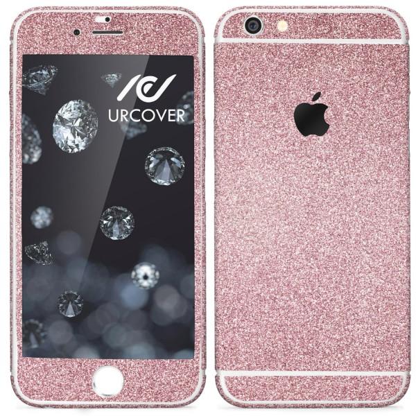 Apple iPhone 6 Plus / 6s Plus Glitzer Folie Aufkleben Regenbogen Diamond Bling