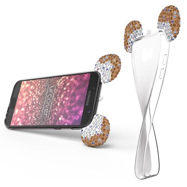 Samsung Galaxy A3 (2017) Maus Strass Ohren Bling Ear Schutz Hülle Glitzer Cover