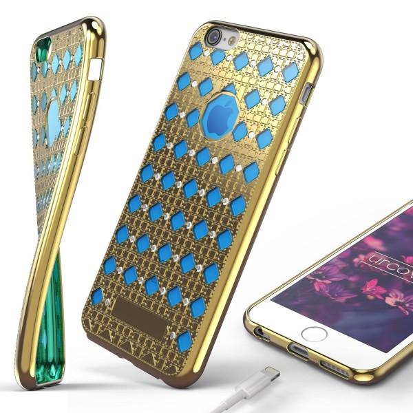 Urcover® Apple iPhone 6 / 6s Silikon Back Case Oriental Cover Schutzhülle Etui