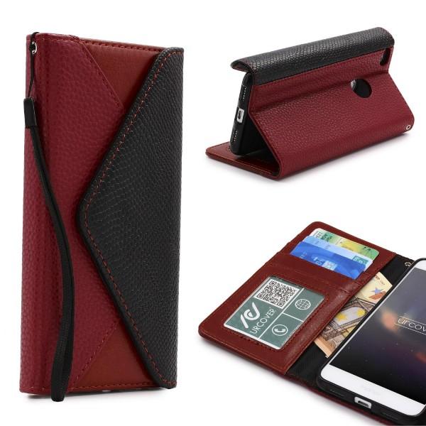 Urcover® Huawei P8 Lite (2017) Schutz Hülle Karten & Geld Fach Case Cover Etui