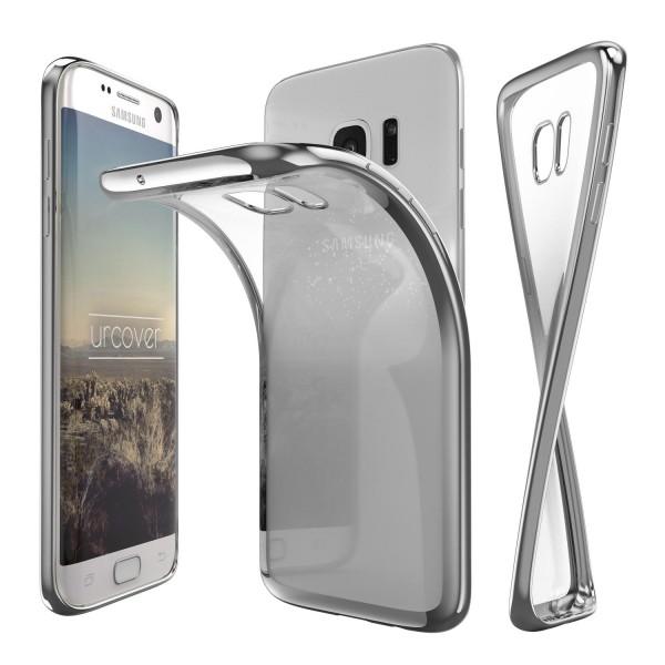Samsung Galaxy S7 Edge Hülle Spiegelrand klar Slim Cover Tasche Back Case Etui