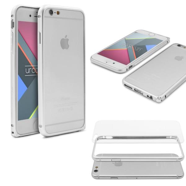 Urcover® Apple iPhone 6 / 6s Aluminium Schutz Bumper Case Hülle Cover transparent