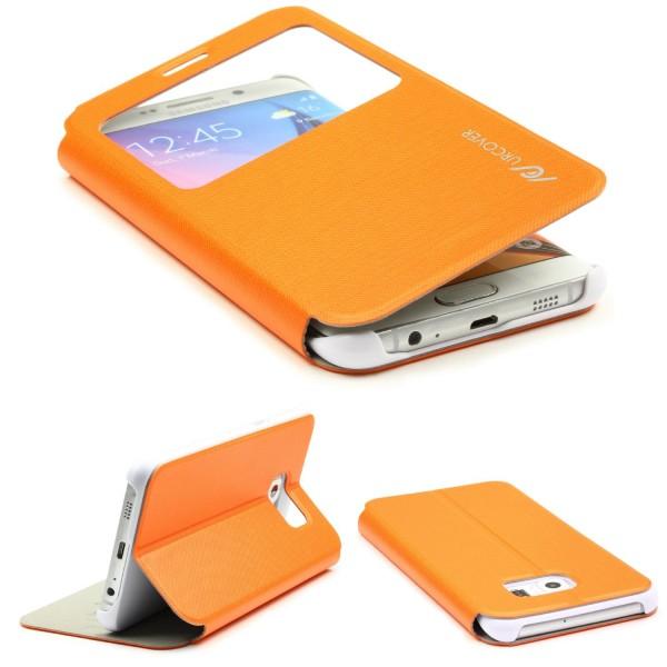 Samsung Galaxy S6 Edge Plus View Case Schutz Hülle Wallet Cover Etui Tasche