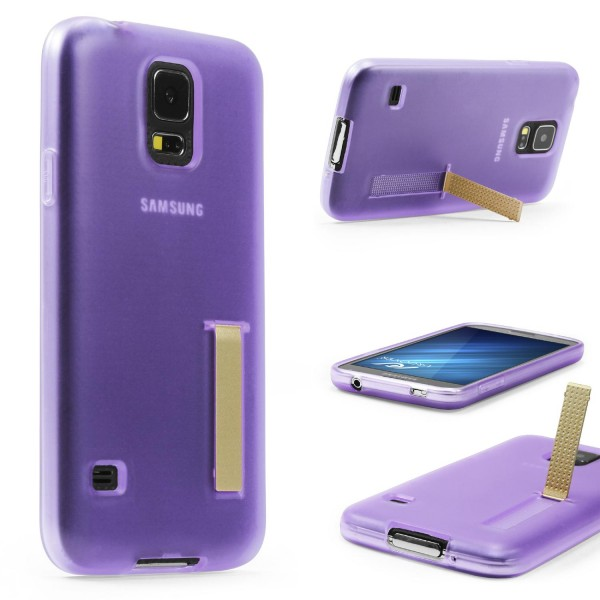 Urcover® Samsung Galaxy S5 Schutz Hülle mit Standfunktion Soft Case Cover Etui