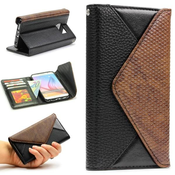 Urcover® Samsung Galaxy S6 Schutz Hülle Karten & Geld Fach Case Cover Etui