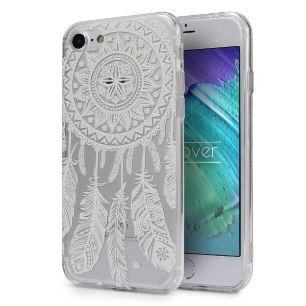 Apple iPhone 7 TPU Schutzhülle Mandala Muster klar Silikon felxible dünn Schale