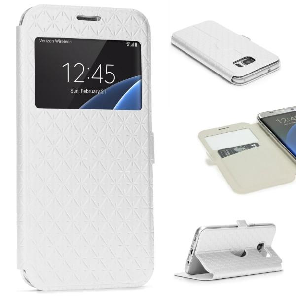 Samsung Galaxy S7 Edge Sichtfenster Handy Schutz Hülle Case Schale