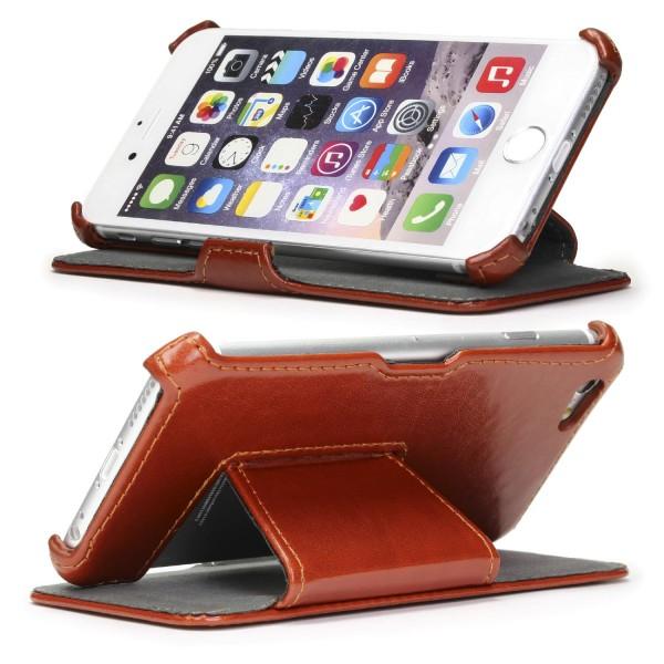 Urcover® Apple iPhone 6 / 6s Schutzhülle Kunstleder Wallet Flip Case Cover Schale