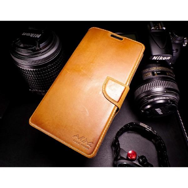 Sony Xperia T3 Handgemachte Echt Leder Schutz Hülle Case Cover Etui Tasche
