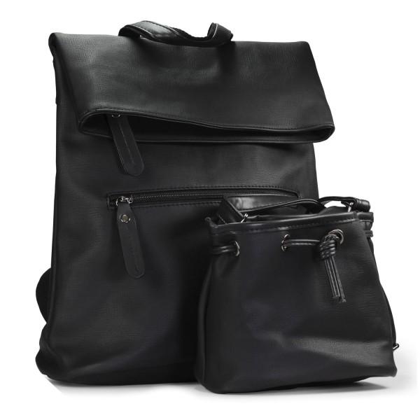 Urcover 3 in 1 Design Foldover Rucksack Umhängetasche Handtasche Freizeit Beutel
