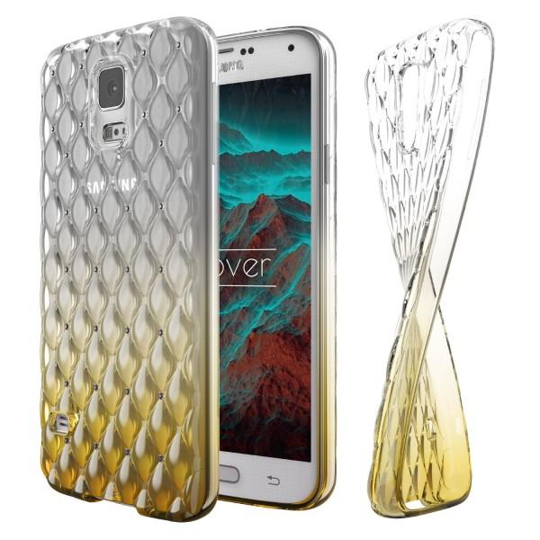 Samsung Galaxy S5 Luxus TPU Handy Hülle Schutz Cover Glitzer Diamant Schale Case
