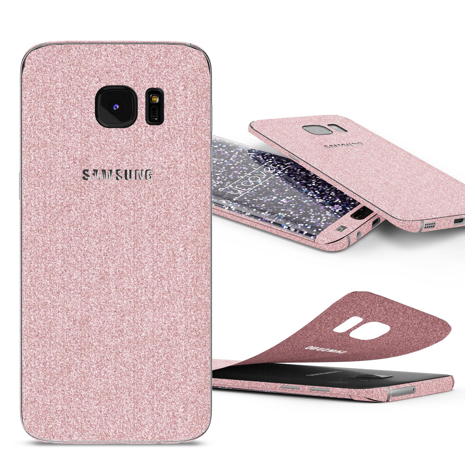 samsung galaxy s7 edge glitzer folie diamond design handy aufkleber schutz bling displayfolie. Black Bedroom Furniture Sets. Home Design Ideas