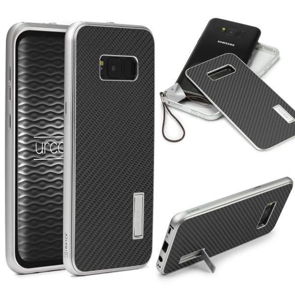 Samsung Galaxy S8 Plus Echt Carbon Back Case Handy Schutzhülle Bumper Alu Karbon