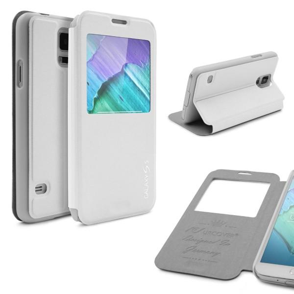 Urcover® Samsung Galaxy S5 Mini Kunststoff Schutz Hülle Case Cover Wallet Tasche