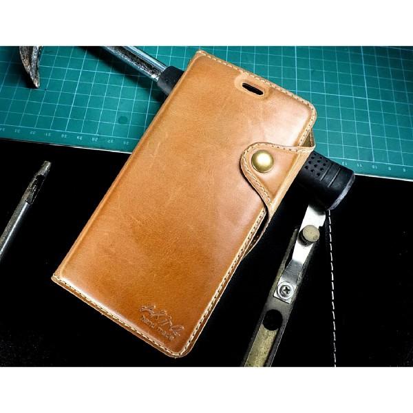 Akira Handmade Echt Leder Handy Schutz Hülle iPhone 6 Plus / 6s Plus Flip Cover