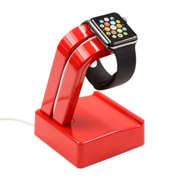 Urcover® Apple iWatch Alu Ladestation Dockingstation Halter Ständer Ladegerät