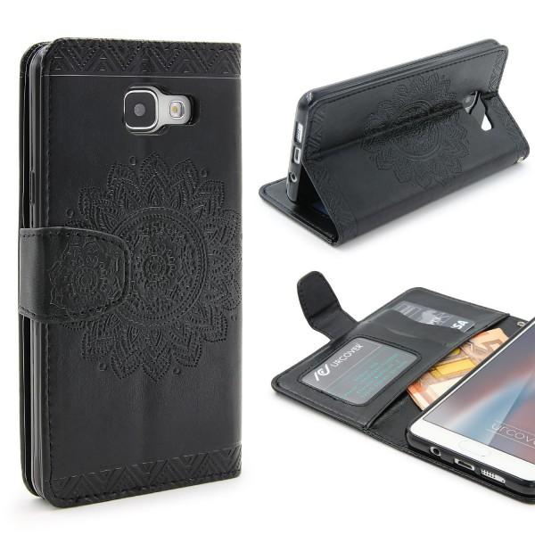 Samsung Galaxy A3 (2016) Wallet Klapp Schutz Hülle Stand Flip Case Cover Etui