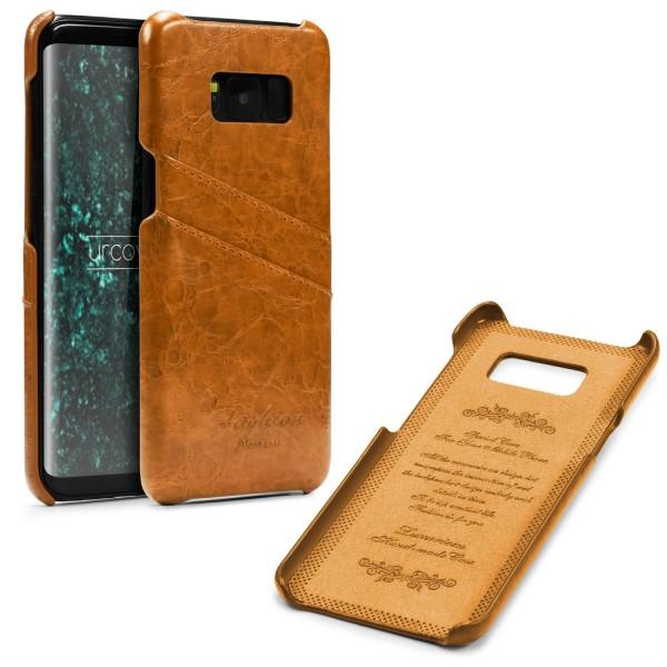 Urcover® Samsung Galaxy S8 Plus Kunstleder Kartenfach Back Case Schutz Hülle