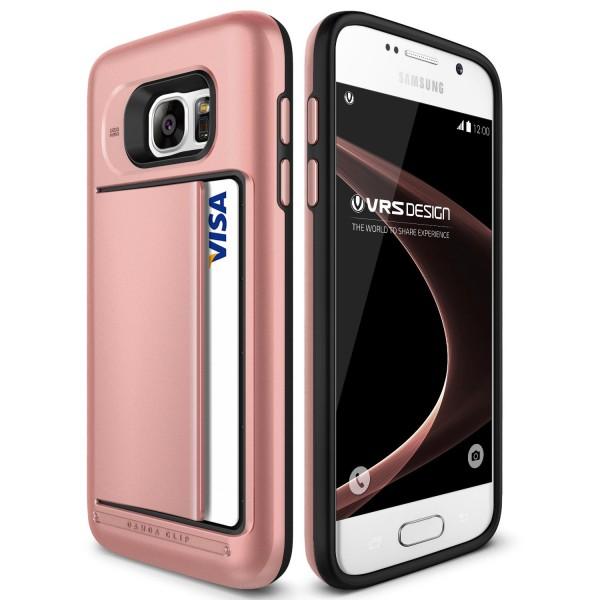 Samsung Galaxy S7 VRS Design® Kartenfach Handy Schutz Hülle Back Case Schale