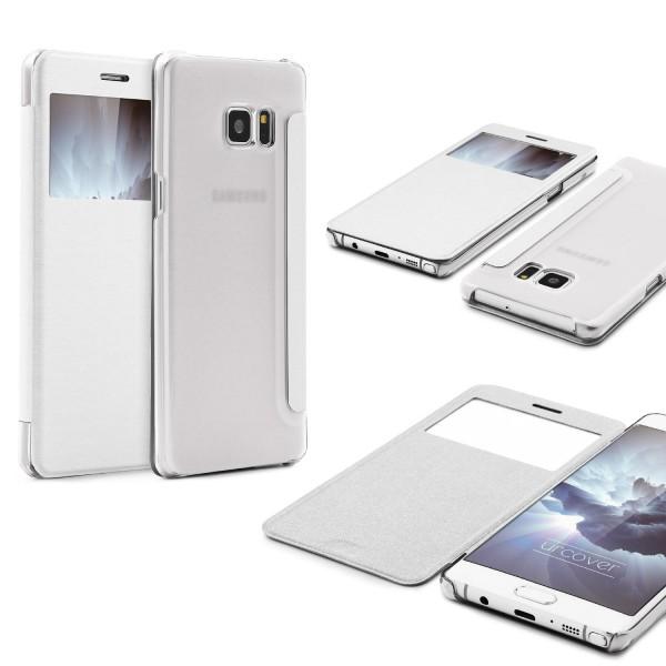 Samsung Galaxy Note 7 View Case klar Schutz Hülle Cover Case Etui Handytasche