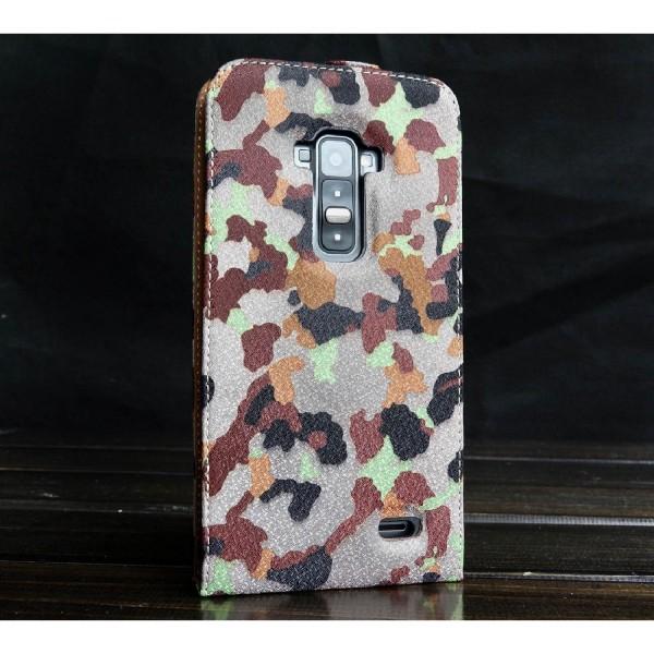 Urcover® LG Flex Tarn Optik Schutz Hülle Case Cover Etui Flip Wallet