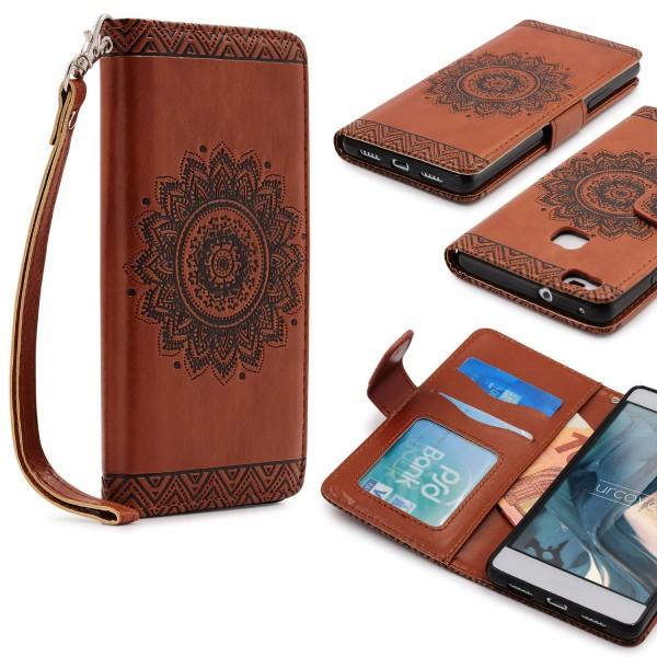 Huawei P9 Lite Wallet Klapp Schutz Hülle Kartenfach Stand Flip Case Cover Etui