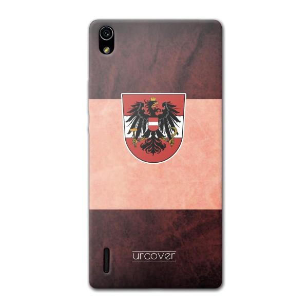 Urcover® Huawei Ascend P7 Fanartikel Schutz Hülle Fußball Case Land Flagge