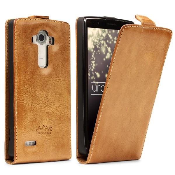 Akira LG G4 Handgemachte Echtleder Klapp Schutz Hülle Wallet Case Flip Cover
