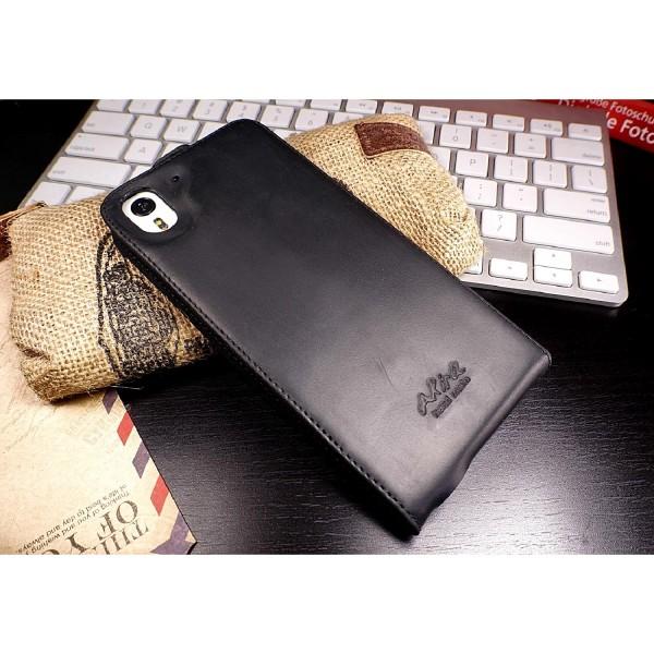 Akira HTC Desire Eye Handgemachte Echtleder Klapp Schutz Hülle Wallet Flip Cover