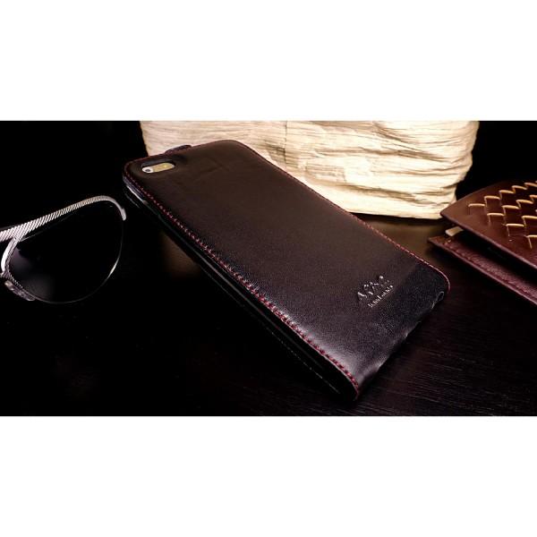 Akira Apple iPhone 6 Plus / 6s Plus Handmade Echtleder Klapp Schutz Hülle Wallet